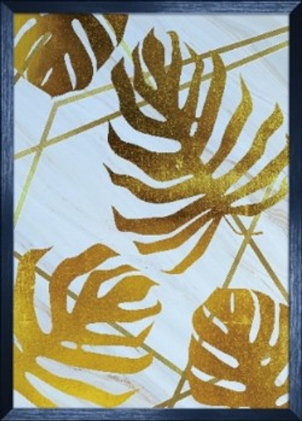 Canvass with Frame Nordic Gold Leaf SPGY057-BK-02
