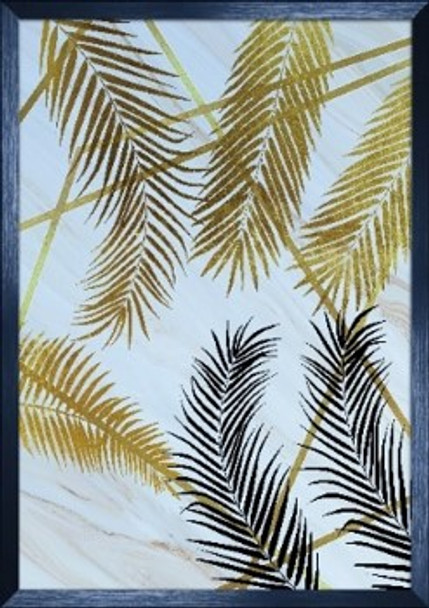 Canvass with Frame Nordic Gold Leaf SPGY057-BK-03
