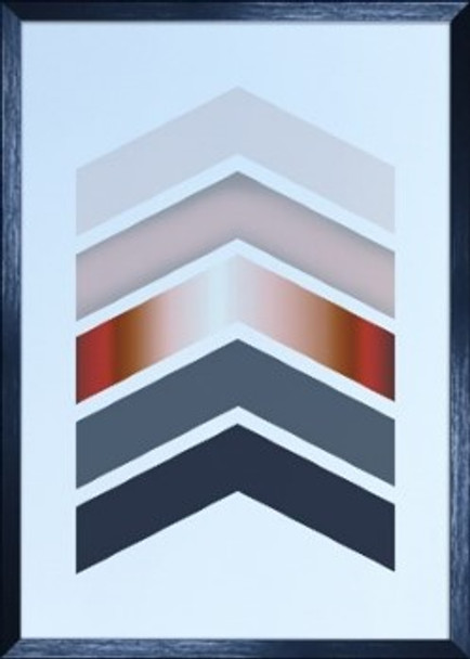 Canvass with Frame Geometric Abstract SPGY057-BK-01