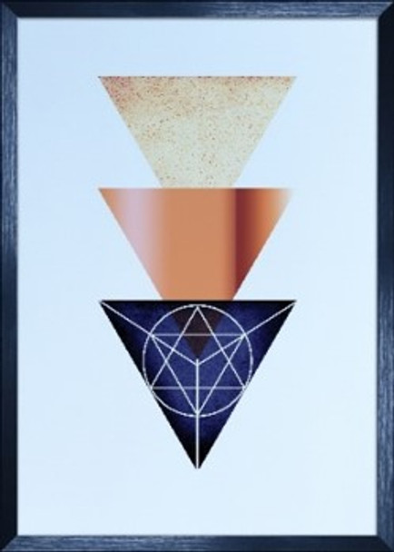 Canvass with Frame Geometric Abstract SPGY057-BK-03