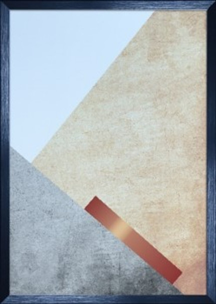 Canvass with Frame Geometric Abstract C SPGY057-BK-03