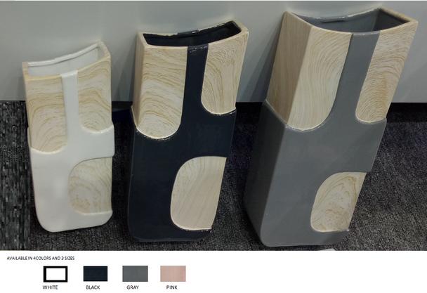 Ceramic Wood Design Vase