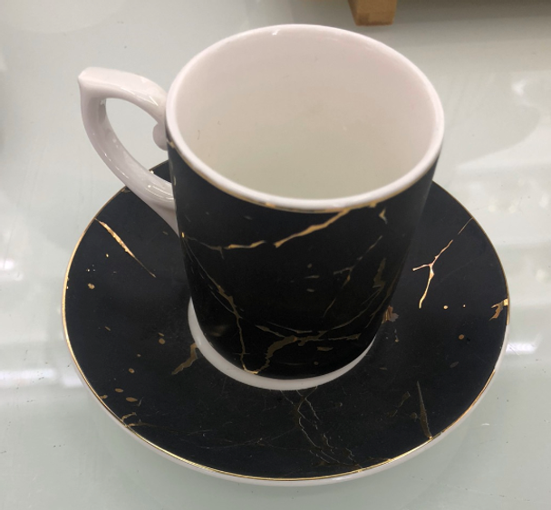 Cup and Saucer Black RHM1906-016 M905-2