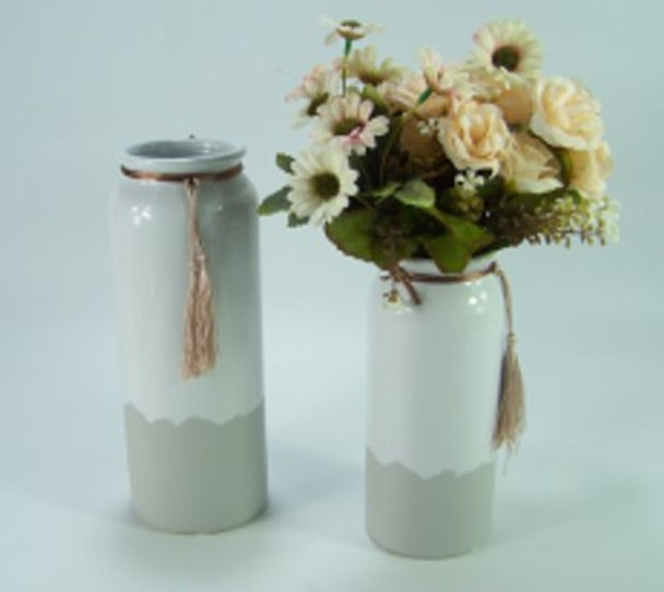 Ceramic Vase Two Tone Design