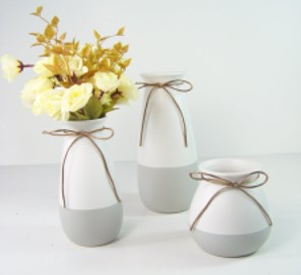 Ceramic Vase Flat Two Tone Design