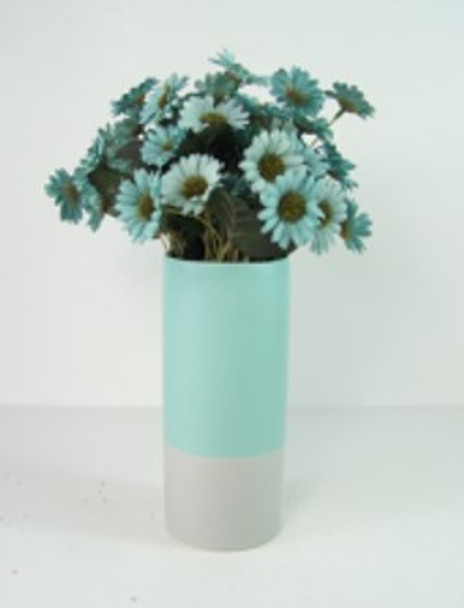Ceramic Vase Plain Two Tone Design