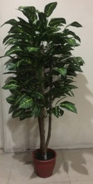 Artificial Plant 5ft Croton Tree Green