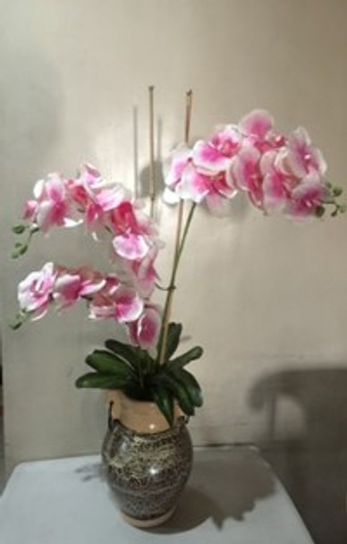 Artificial Pink Orchids Flower Arrangement in Jar
