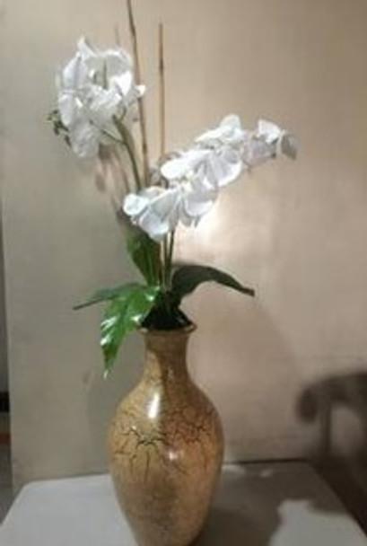 Artificial White Orchids Flower Arrangement in Jar