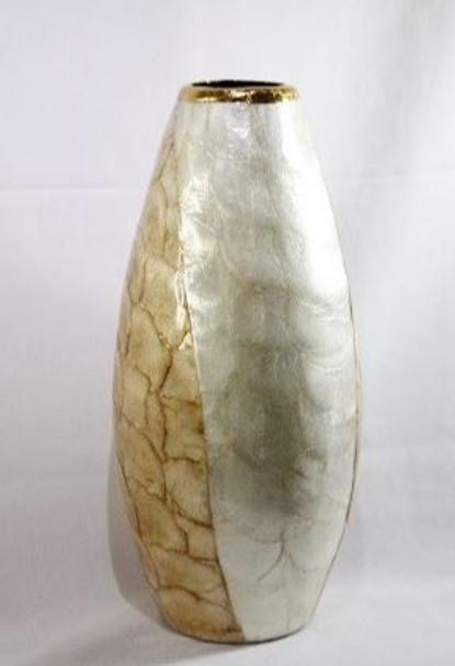 Decorative Vase  Capiz Small 03 5'' DIA X 12'' H