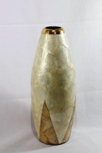 Decorative Vase  Capiz Small 06 5'' DIA X 12'' H