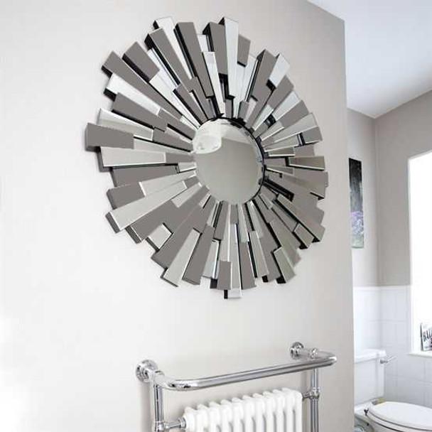 Decorative Grey Round Wall Mirror M398 80X80CM