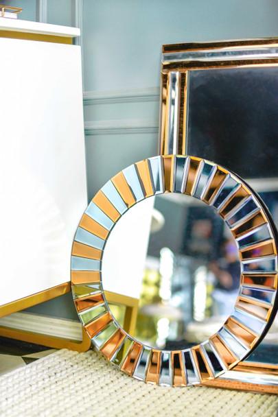 Decorative Round Mirror M8028-BR