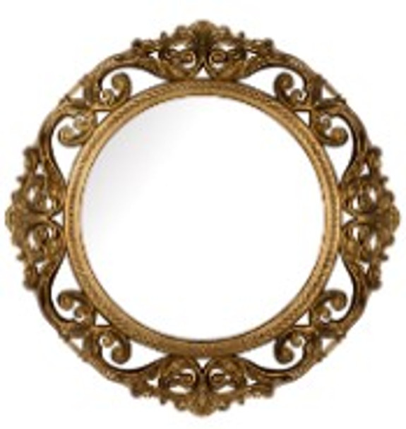 Decorative Round Wall Mirror Gold A -725A