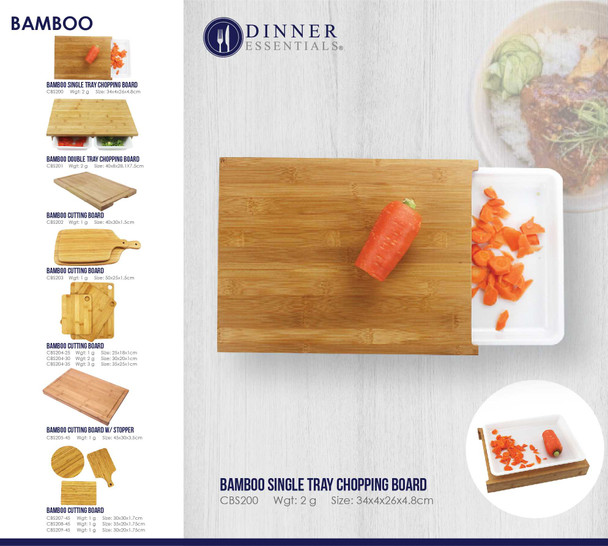 CBS200 SINGLE TRAY CHOPPING BOARD 34.3X26X4.8