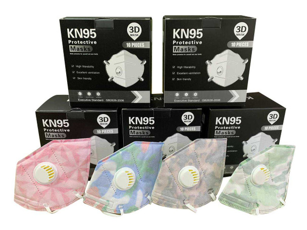 KN95 Face Mask with Respirator Printed