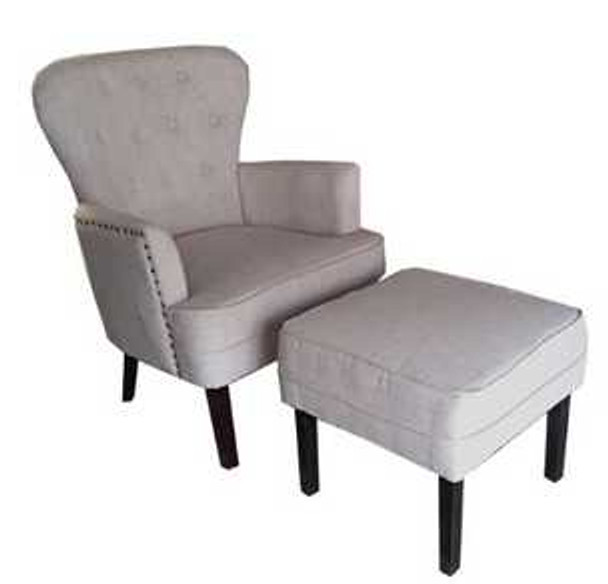 DAPNEY ACCENT CHAIR WITH STOOL