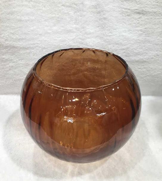 2653 Bowl Amber Optic Rose 8X10