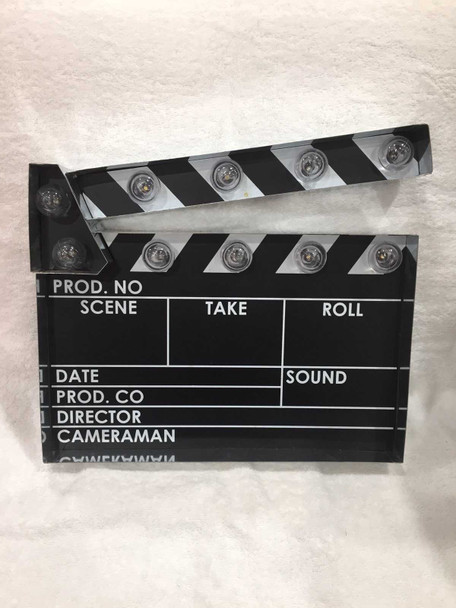1410083 Movie Clapper Board Marquee Sign Led 13.5In