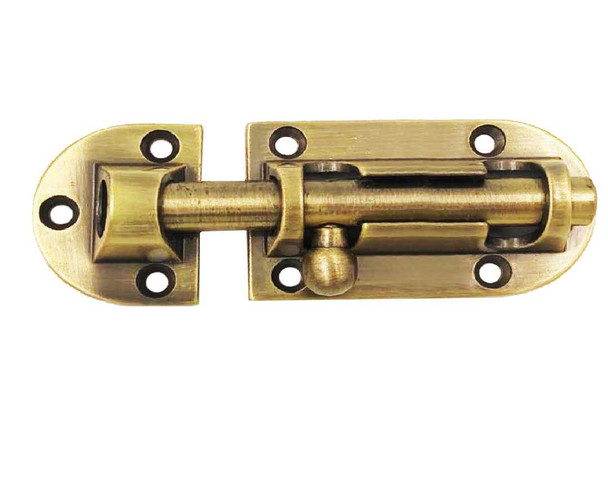 BARREL BOLT HD 4X34MM ANTIQUE BRASS