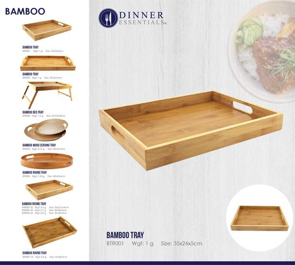 BTR001 Bamboo Tray 35x26x5cm