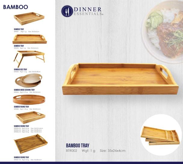 BTR002 Bamboo Tray 35x26x4