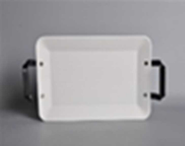 CT-CHUNKY 32CM RECTANGULAR PLATE WITH HANDLE