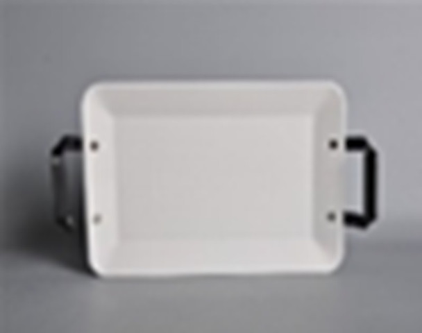 CT-CHUNKY 38CM RECTANGULAR PLATE WITH HANDLE