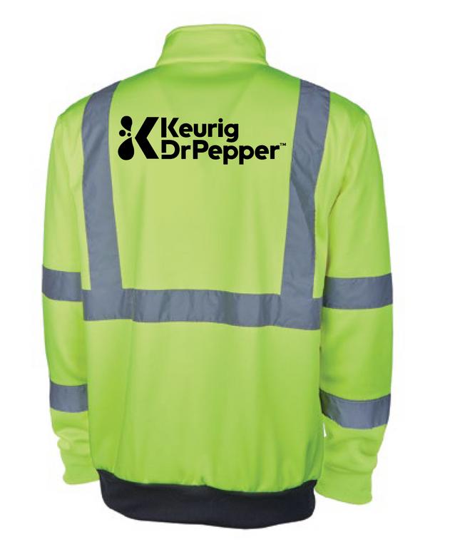 Keurig Dr Pepper Hi-Viz 1/4 zip sweatshirt-12 piece minimum (not free, info below)