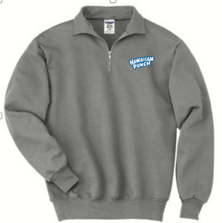 Oxford 1/4 Zip Sweatshirt with Hawaiian Punch logo