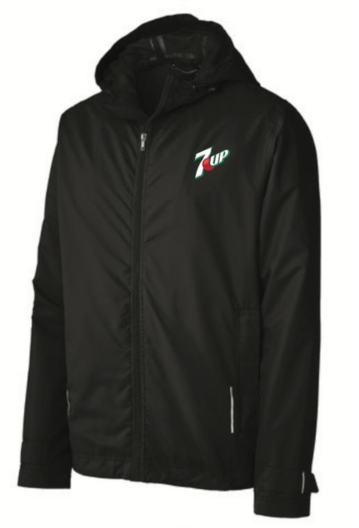 Black Rain Jacket with 7up Logo
