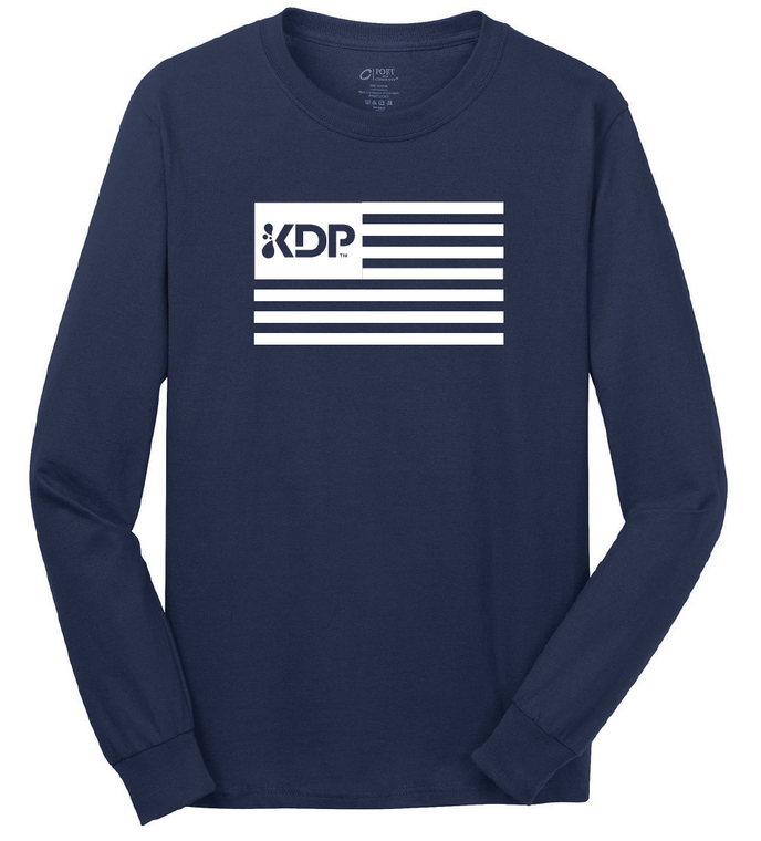 Long Sleeve KDP Flag T-shirt