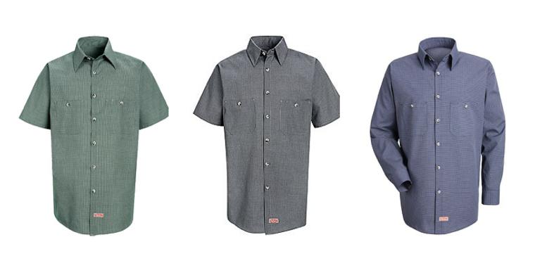 Micro Check Driver Shirt, Long Sleeve