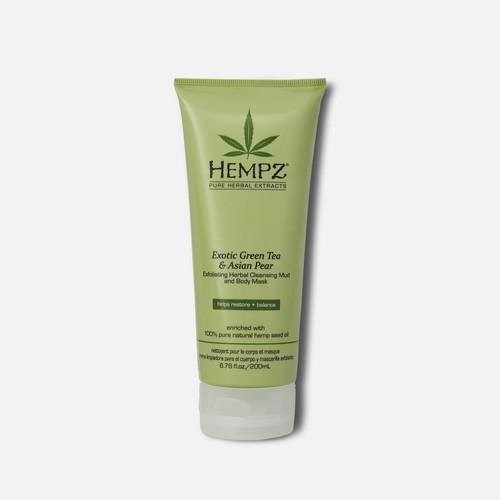 Hempz® Exotic Green Tea & Asian Pear Exfoliating Herbal Cleansing Mud & Body Mask 200ml