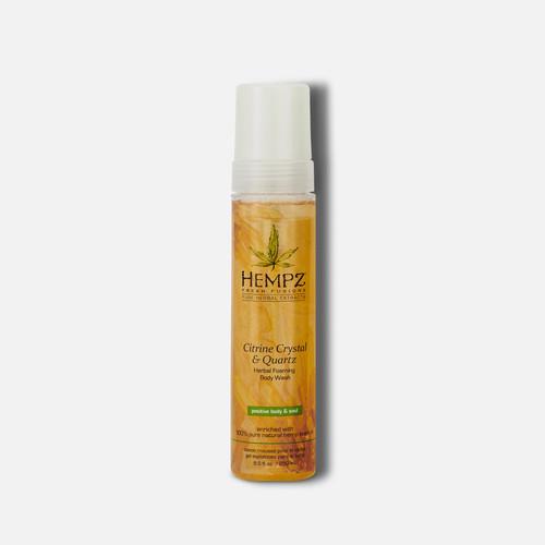 Hempz® Fresh Fusions Citrine Crystal & Quartz Herbal Foaming Body Wash 250ml