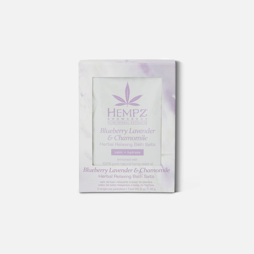 Hempz® Aromabody Blueberry Lavender & Chamomile Herbal Relaxing Bath Salts 2 x Packettes