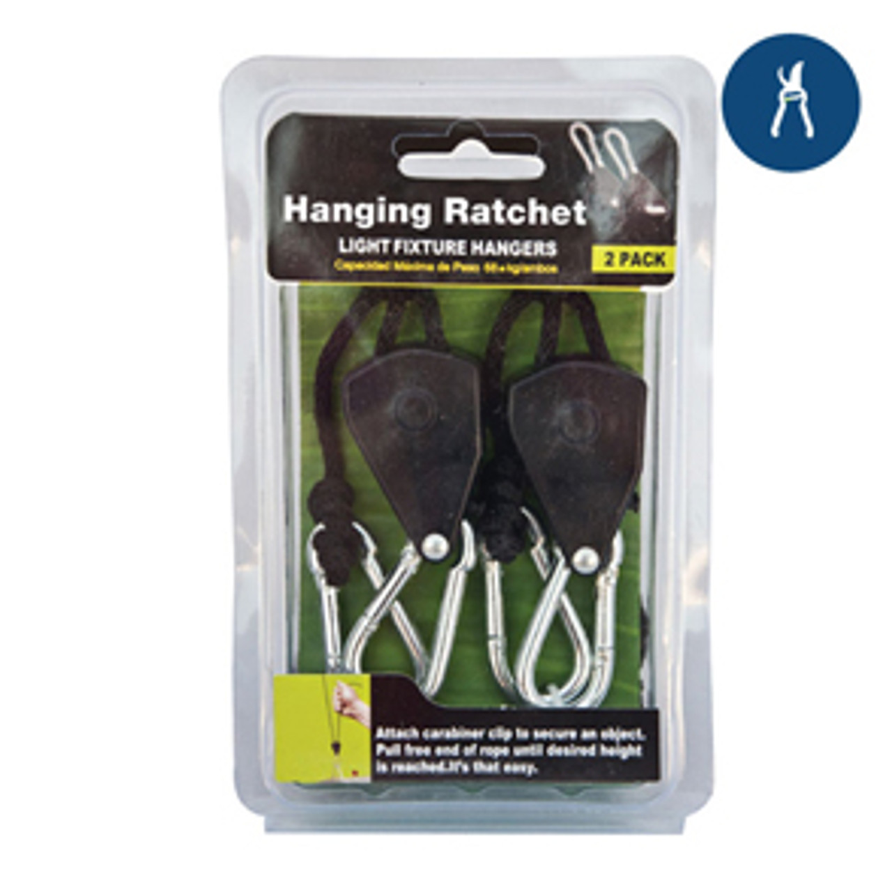 1/8'' Rope Ratcheting Light Hangers (2 pc.)