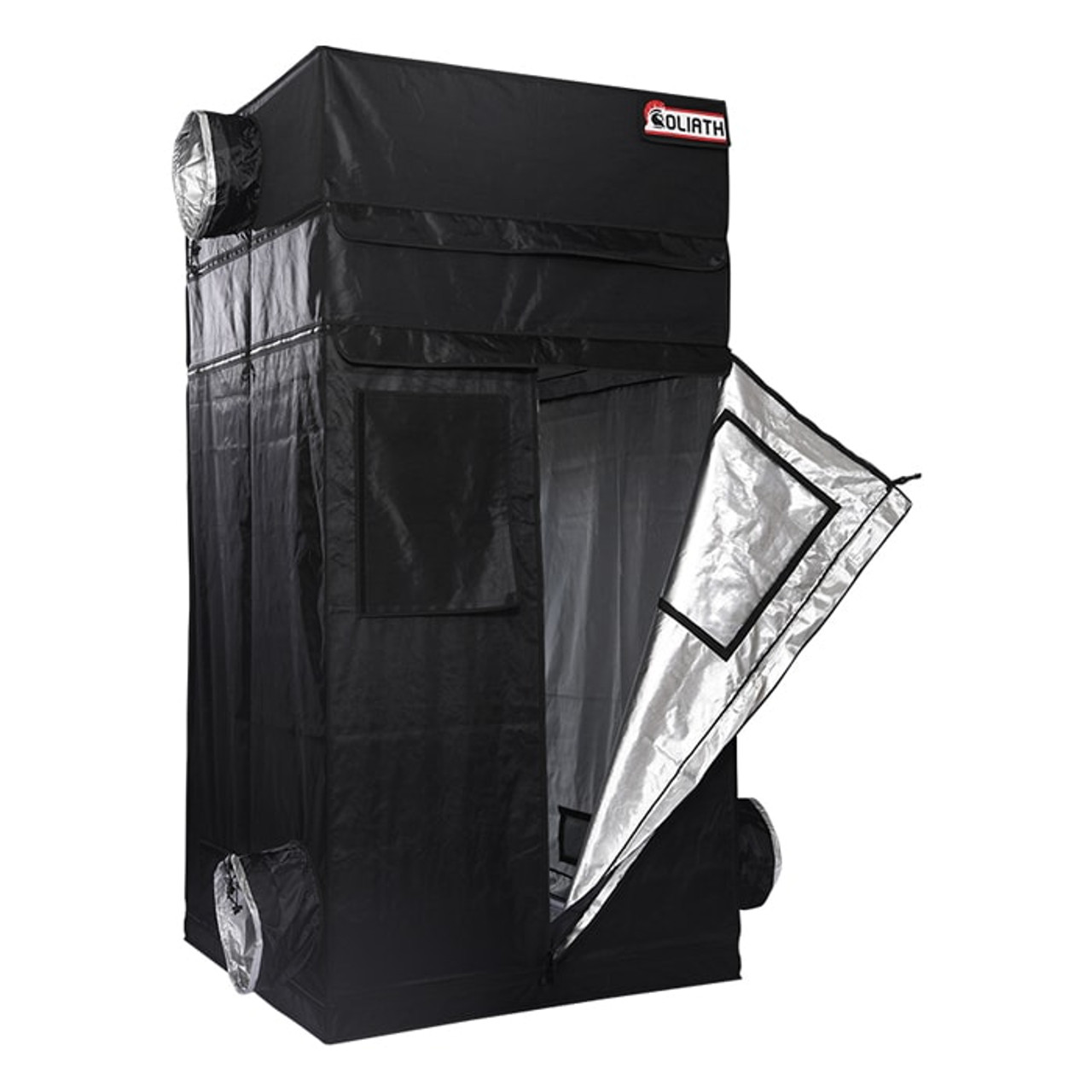 "The Goliath Grow Tent 4'x4'x6'11""-7'11"""