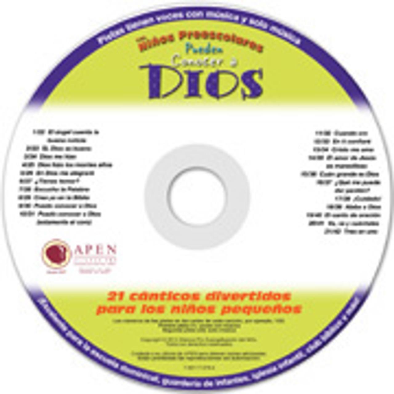 Los niños preescolares pueden conocer a Dios (music cd)