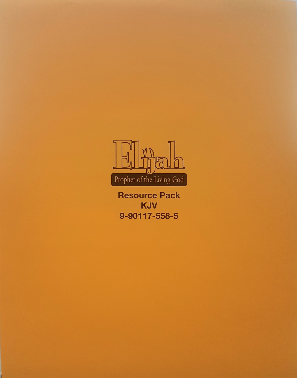 Elijah: Prophet of The Living God (resource pack KJV)