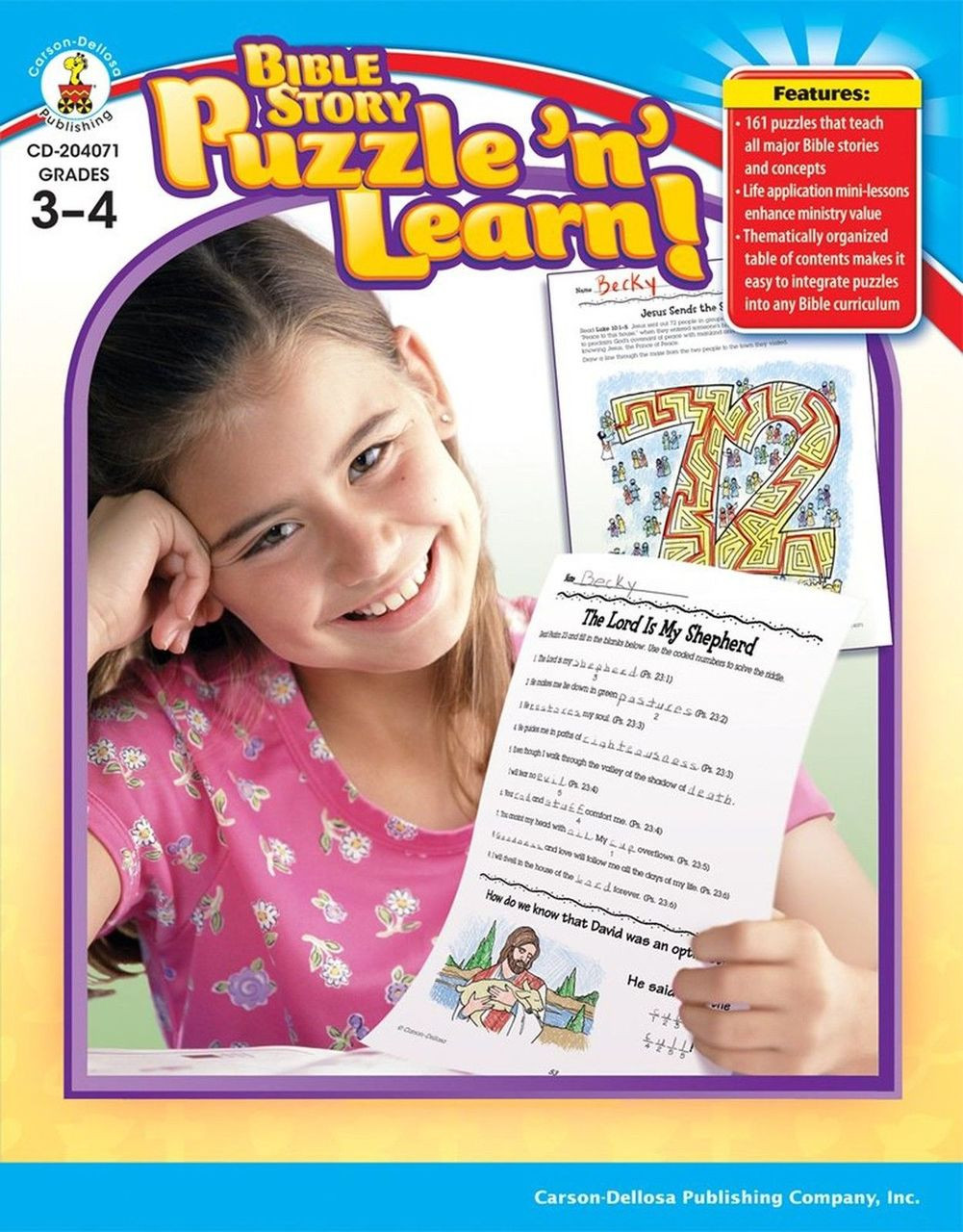 Bible Story Puzzle n Learn Grades 3-4