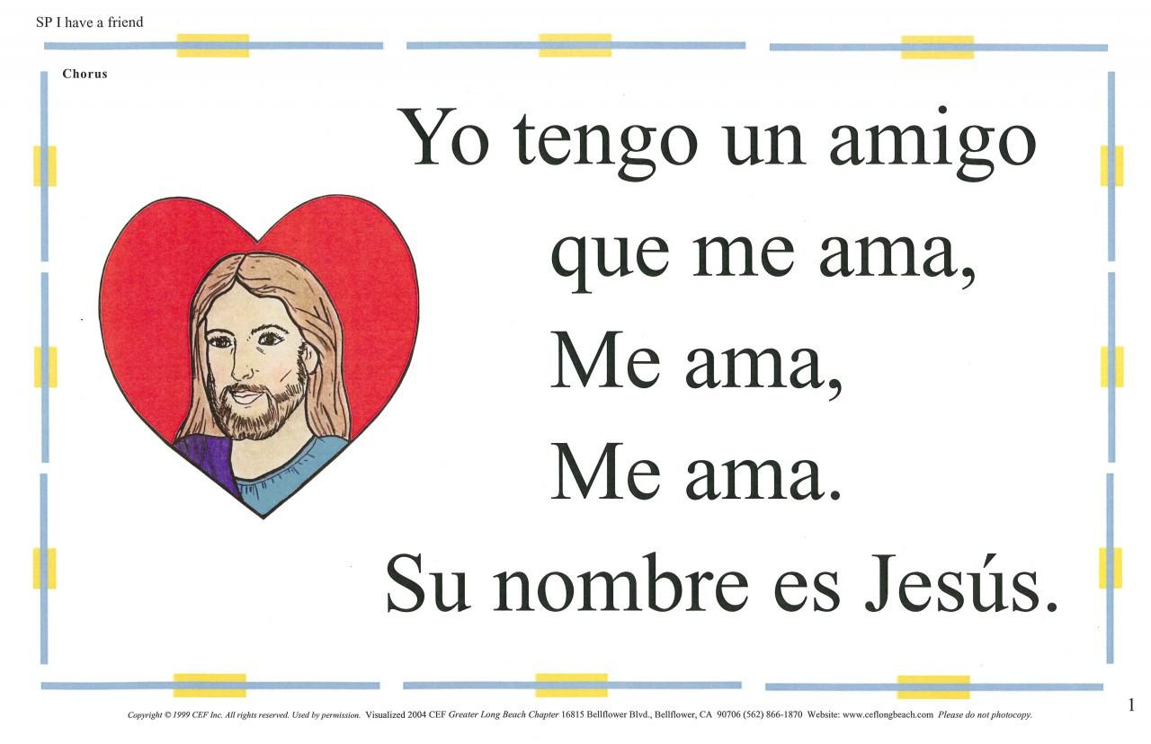 Yo Tengo Un Amigo (I have a Friend)