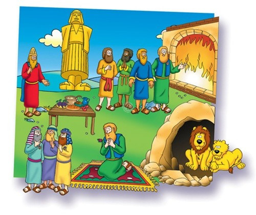 Daniel and The Lions - Begginers Bible (Pre-cut)