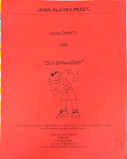 Dig Down Deep (lead sheets)