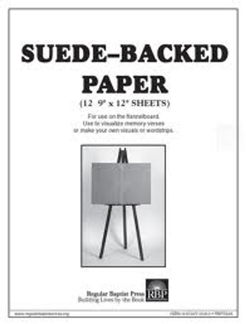 Suede-backed paper