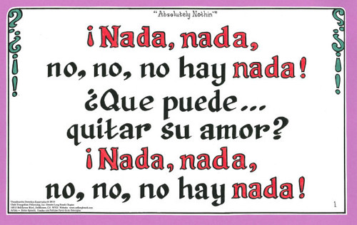 No, No, No Hay Nada (Absolutely Nothing)