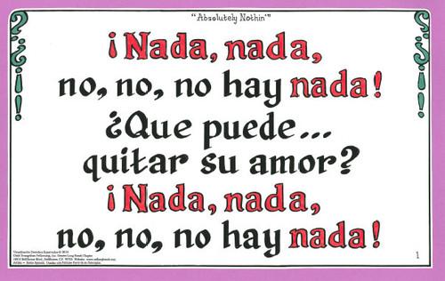 No, No, No Hay Nada (Absolutely Nothing)