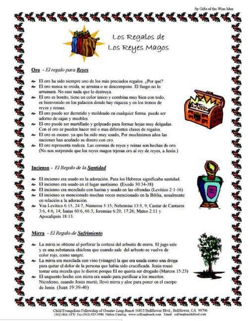 Los Regalos de Los Reyes Magos (Gifts of The Wisemen)