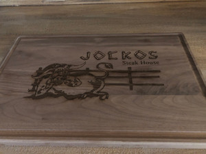 Jocko's engraved maple cutting board