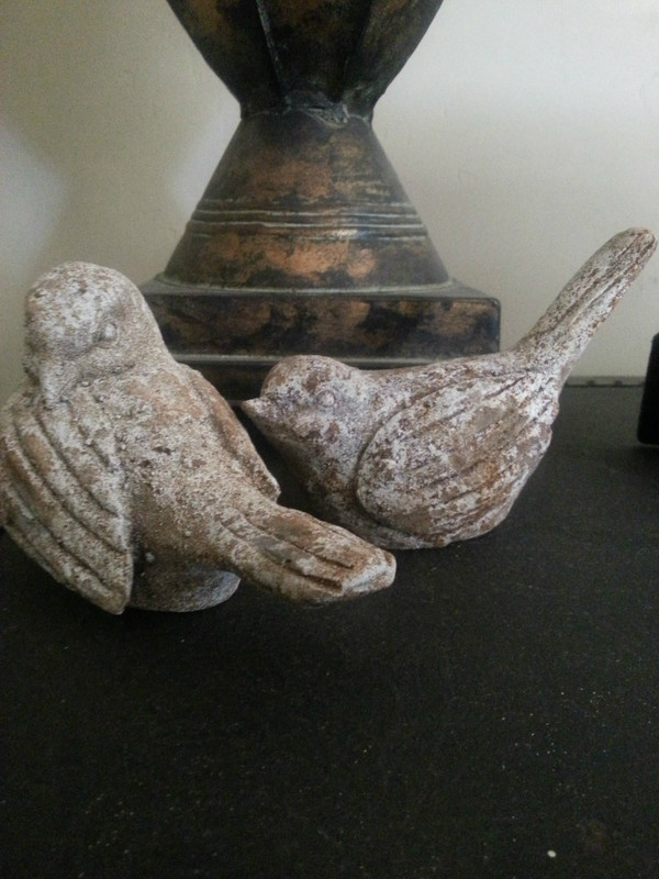 Rustic Birds with distressed finish set of 2